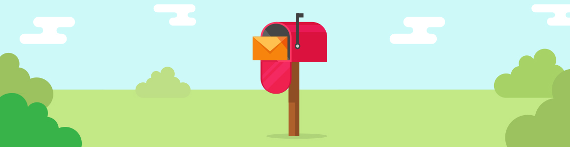 Direct mail letter in a mailbox